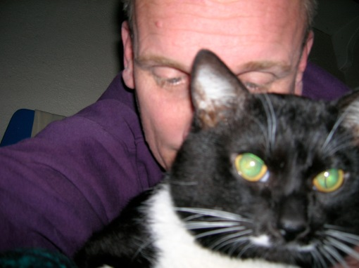 portrait of me and bootcat